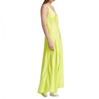 Polo Ralph Lauren Neon Satin Sleeveless Slip Dress