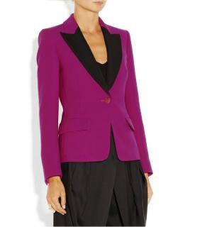 Emilio Pucci fuchsia wool & silk tailored jacket