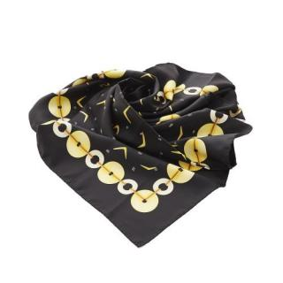 Bvlgari Black Printed Silk 90cm Scarf