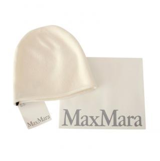 Max Mara Ecru Cashmere Knit Beanie
