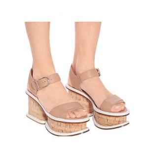 Gabriela Hearst Harrigan leather & cork sandals