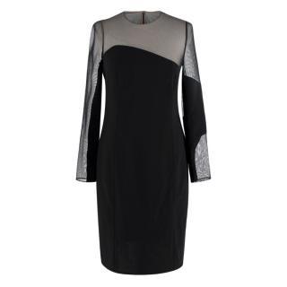 Akris Black Knee Length Body-con Dress