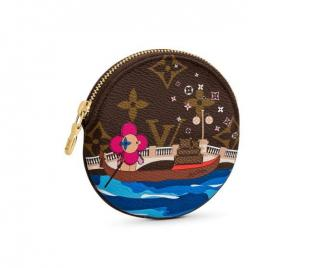 Louis Vuitton Xmas Vivienne Round Coin Purse