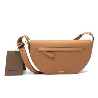 Burberry Olympia Small Warm Sand Leather Shoulder Bag