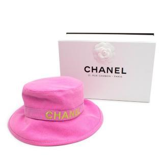 Chanel Pink Cotton Bucket Hat - Rare