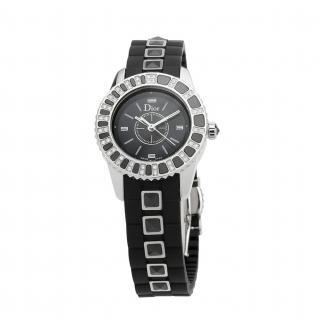 Dior Black Sapphire & Diamond 29mm Christal Watch