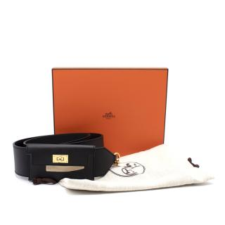 Hermes Kelly Black Leather Pocket Strap - Colour Sold Out/Rare