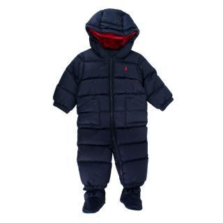 Ralph Lauren Blue Baby 9M Quilted Snowsuit