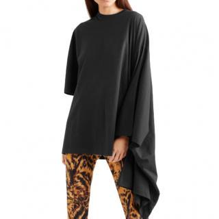 Balenciaga Womens Oversized printed cotton-jersey top
