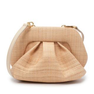 Themoire Bios Beige Raffia Bag