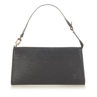Louis Vuitton Black Epi Leather Pochette Accessoires