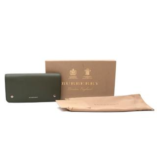 Burberry Two-tone Leather Continental Wallet