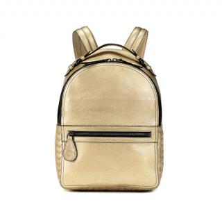 Bottega Veneta Metallic Gold Smooth & Intrecciato Electre Backpack