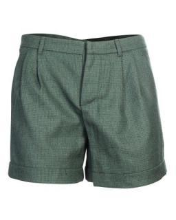 Miu Miu Green Wool Tailored Shorts
