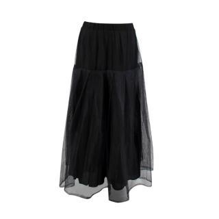 Essentiel Antwerp Black Layered Net Skirt