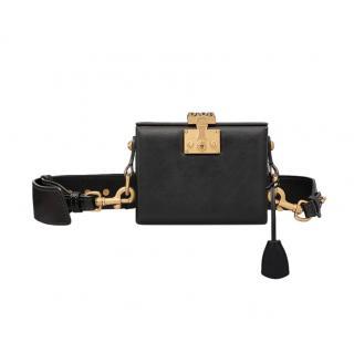 Dior Black Leather DiorAddict Lockbox Bag