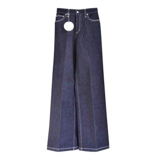 Chloe Dark Night Blue High-rise wide-leg jeans
