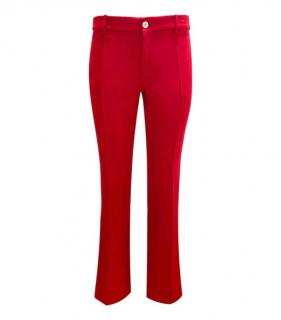 Gucci Red Wool & Silk Tailored Trousers