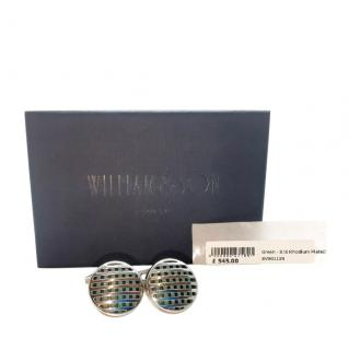 William & Son Rhodium Plated Sterling Silver Cufflinks