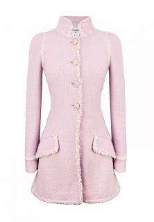 Chanel Paris/Versailles Pink Tweed Longline Jacket