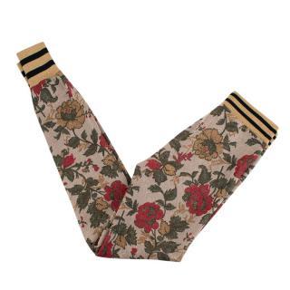 Gucci Metallic Floral Stretch Knit Leggings