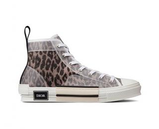 Hypebae Dior Leopard Print High Top B23 Sneakers