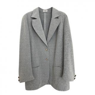 Chanel Grey Lightweight Stretch Blazer