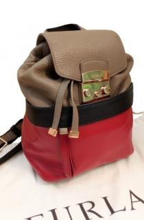 Furla Colourblock Leather Backpack