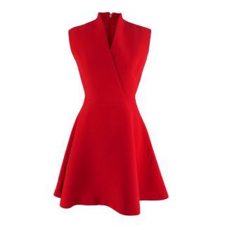 Christian Dior Red Wool & Silk Mini Skater Dress