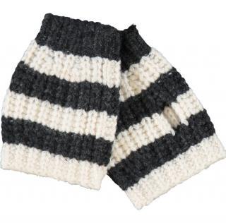 Gucci Grey & White Wool Mittens