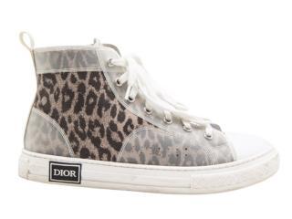 Dior Kid's B23 Leopard Print High Tops