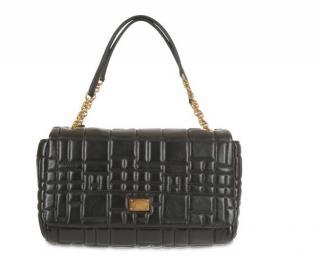 Dolce & Gabbana Black Quilted Leather Shoulder Bag