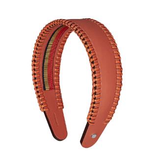 Hermes Terracotta/Mandarine Newton Calfskin Grace Headband - Sold Out