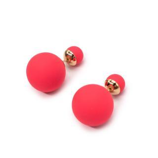 Dior Matte Coral Pink Miss En Dior Tribal Earrings