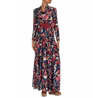 Ba&Sh Printed Crepe Cora Maxi Dress