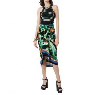 Dolce & Gabbana Longuette Wrap-around Skirt In Charmeuse