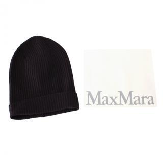 Max Mara Navy Cashmere & Wool Beanie