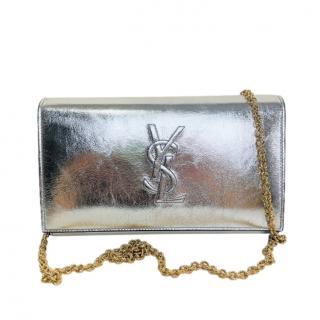 Saint Laurent Silver Belle de Jour Wallet on Chain