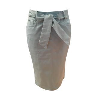 Super Scervino Street Cotton Belted Skirt