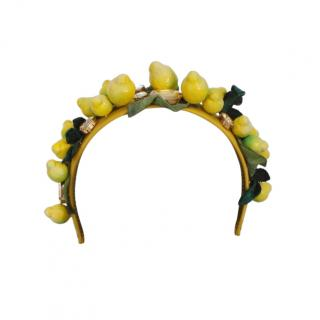 Dolce & Gabbana Lemon Applique Headband