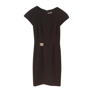 Chanel Black Boucle Tweed LIttle Black Dress
