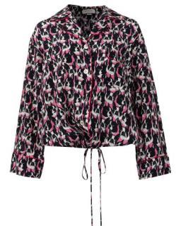 Gucci Pink French Bulldog Print Silk Shirt