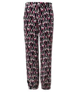 Gucci Pink French Bulldog Print Silk Pants