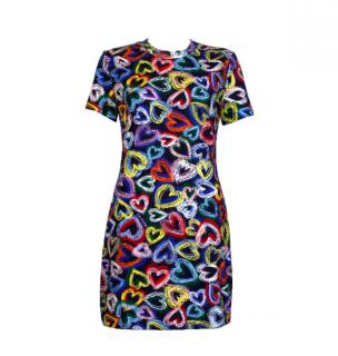 Love Moschino Heart Print Fitted T-Shirt Dress