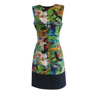 Altuzarra Tropical Bird Print Sleeveless Shift Dress