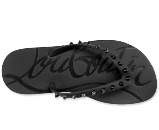 Christian Louboutin Loubi Flip Black Studded flip-flops