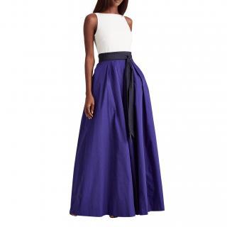 Lauren Ralph Lauren Three Tone Taffeta Sleeveless Gown