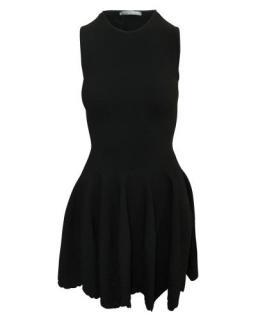 Alexander McQueen Black Embroidered Sleeveless Mini Dress