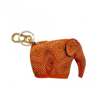 Loewe Orange Elephant Microstuds Charm