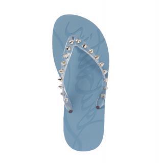 Christian louboutin Blue Loubi Flip spiked rubber flip flops